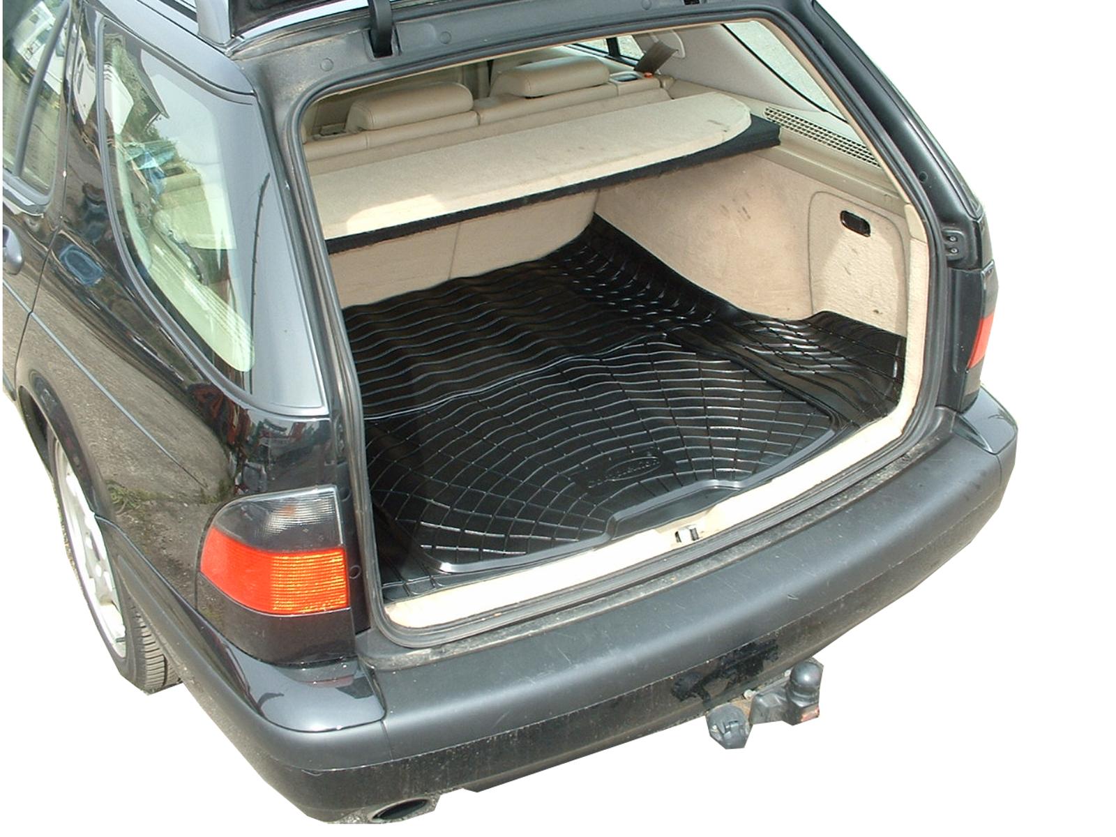 Dog Bumper Guard : Saab estate black rubber boot load liner dog mat