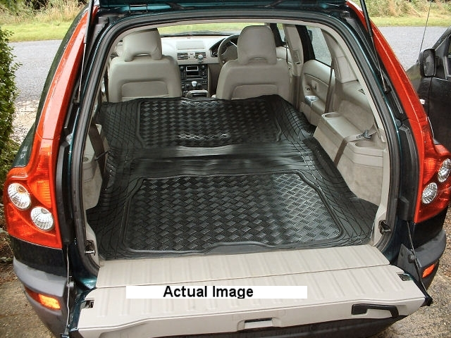volvo xc90 rubber boot mat liner and cargo area mat pair. Black Bedroom Furniture Sets. Home Design Ideas